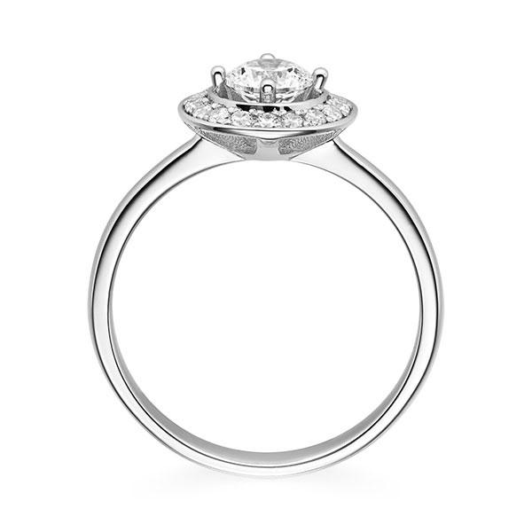 Diamantring Sunshine 4 Krappen mit Halo im Verschnitt, Breite: 3,00, Höhe: 1,50