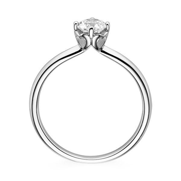 Diamantring Cordial 4 Krappen mit Herzdetail, Breite: 2,30, Höhe: 1,50